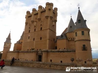Destilería DYC y Ciudad de Segovia;nacimiento rio manzanares;senderismo wikipedia